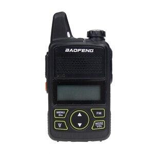 Image 1 - Baofeng BF T1 양방향 라디오 미니 휴대용 uhf 400 470 mhz 20 채널 울트라 씬 드라이빙 호텔 민간인 워키 토키 햄 라디오