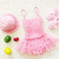 3 Color Swimsuit Girls Swimwear Children Swimming Suit Little Mermaid Solid Kids Bathing Suits C0007