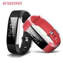 Купить с кэшбэком ID116 HR Plus Smart Wristband Fitness & Sleep Tracker Pedometer Heart Rate Monitor Smart band Bracelet for iPhone 8 / 8 Plus / X