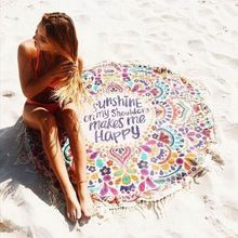 Indio roundie ronda hippie mandala tapiz bohemio playa tiro toalla yoga mat 150 cm