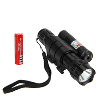 5000lm XML T6 LED Weapon Light Tactical Flashlight Red Laser Dot Sight Light For Hunting Camp+18650 Battery+Laser Mount+Charger