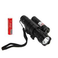 New Hunting Torch 5000lm XML T6 LED Flashlight Lamp Red Laser Dot Sight Light 18650 Battery