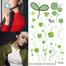 Body Art Waterproof Temporary Tattoos For Women And Men 3d Lucky Clover Design Small Arm Tattoo Sticker s RC2329