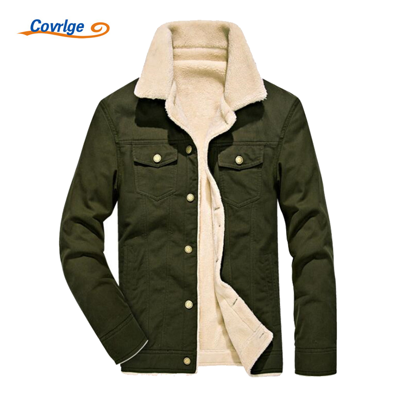Covrlge 2017 Warm Men's Jacket Coat Winter Parka Jacket Fashion Slim Fit Military Parka Green Parkas for Men Overcoat MWM048 men ultra light large size thin parka jacket korean black cardigan china hoody winter overcoat slim warm military manteau homme