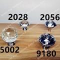 Dia.40mm Vidro Cristal Transparente Porta Do Armário/Maçanetas de Gaveta * Mabel * 40mm Sliver Gaveta Da Cozinha