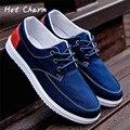 Hot 2016 Nueva Moda de Nueva Marca de Lujo de Zapatos Para Hombre de Alta calidad de Los Hombres Zapatos Casuales Zapatos de Lona Perezosos Zapato de cordones Plana Masculina Gay
