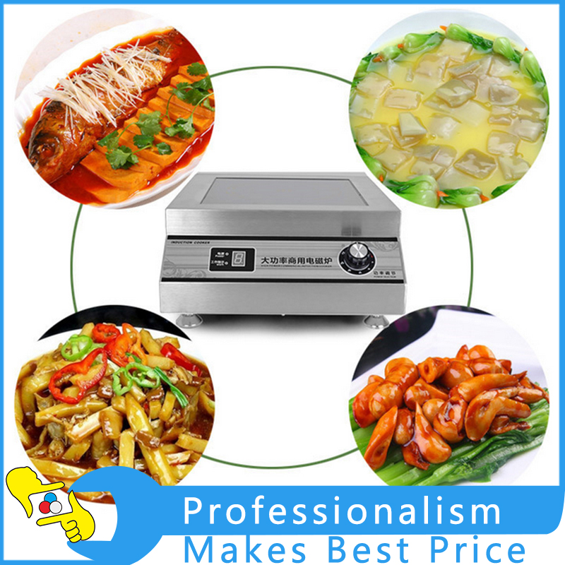 High Power Commercial Induction Cooker Flat Surface Electric Cooker 220V 5000W electric 4 heads and 6 heads induction cooker embedded electromagnetic oven household commercial electromagnetic furnace cooking