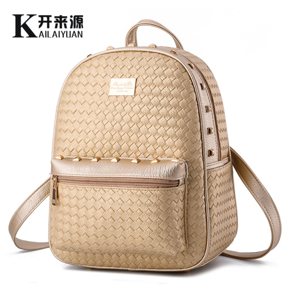 KLY 100 Genuine leather Women font b backpack b font 2016 New School Bags Fashionista font