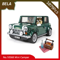 Bela 10568 1079pcs Creator Series The Mini Cooper Camper Model Building Blocks DIY Toys for Children Gift Compatible 10242