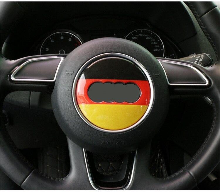 Tcare 1PC Autocollant de Volant de Voiture en Alliage pour Audi A4L//A3//A6L//Q5//Q3 Strass