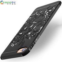 5 5S SE COCOSE Brand Silicone Case For IPhone 6 6s Plus 3D Carved Luxury Phone