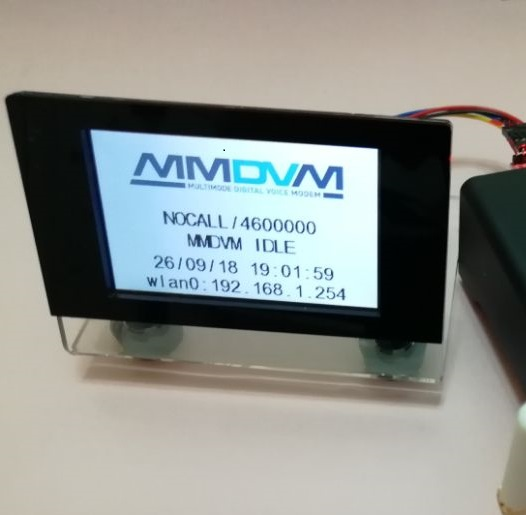"""Acrylic /""""L/"""" Case+ Nextion screen 3.2/'/'+USB to TTL Adapter MMDVM LCD Display"""