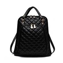 Дизайн feminina PU кожаный рюкзак Для женщин Рюкзаки для подростков Обувь для девочек Школьные сумки черный Марка Винтаж рюкзак Mochilas Mujer