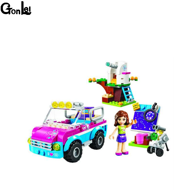 (GonLeI) 10555 Friends Vet Ambulance Building Blocks Christmas Birthday gift Bricks sets Christmas gift Friends For Girl Toys gonlei 10407 friends pop star tour bus building blocks sets bricks toys girl game house gift compatible with