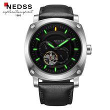 Herrenuhren top-marke luxus NEDSS Tritiumgas Leuchtende Uhr Männer Wasserdicht automatik Uhr Männlichen Vollstahl militäruhren