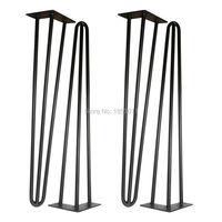 Free Shipping 24 Hairpin Legs Matte Black Set Of 4 Dining Table Legs Computer Desk Legs