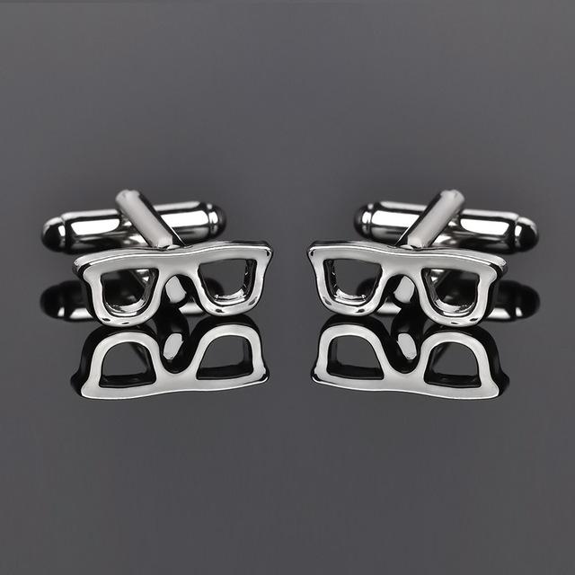 Creative Fashion Exquisite Mini Glasses Wedding Cufflinks