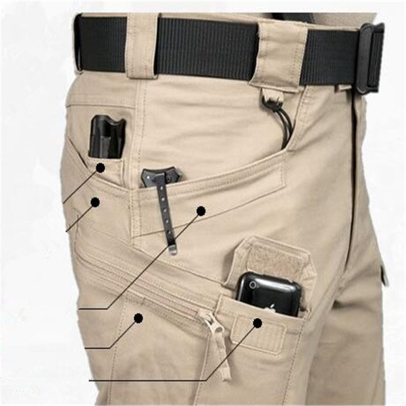Brave Men Cargo Pants Spring Autumn Military Archon Europe US Russia  Police Cotton Blend Brown Green Pockets Firm Sewing Cool