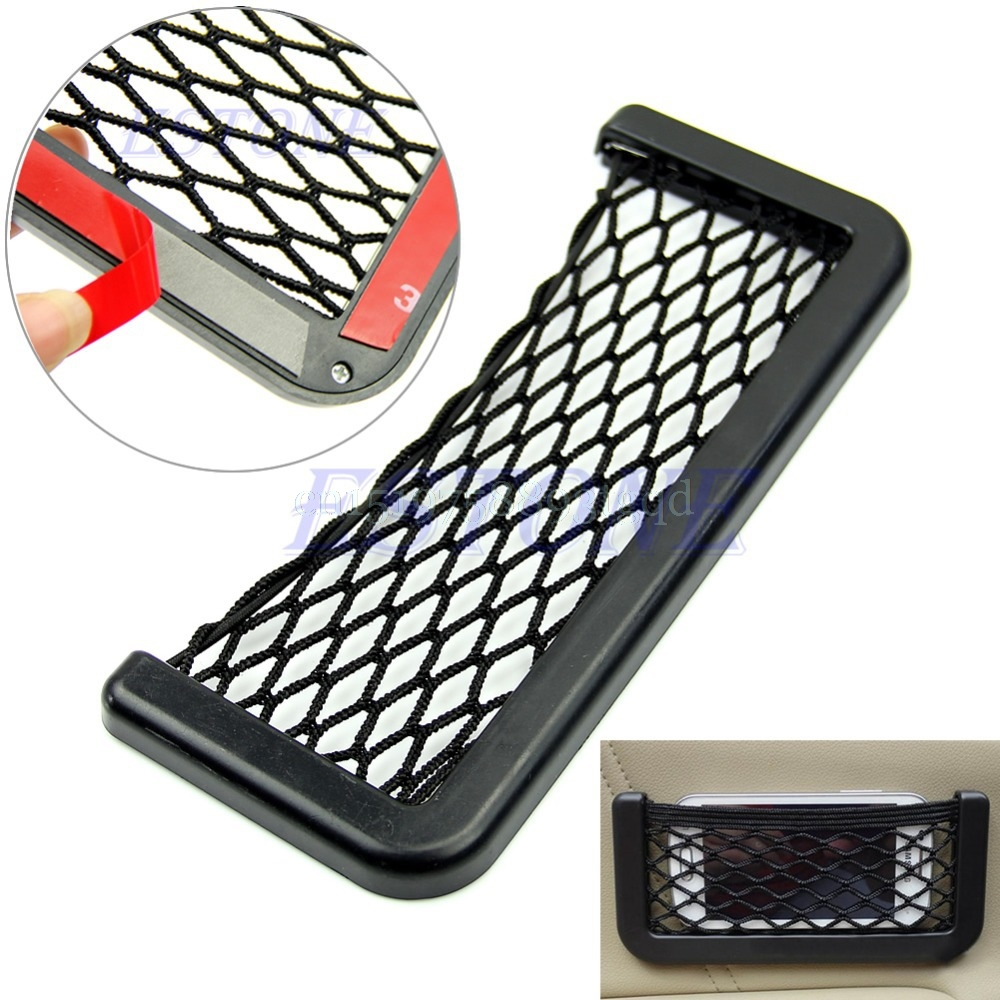 Car Auto String Mesh Bag For Cellphone Gadget Cigarette Storage Pouch