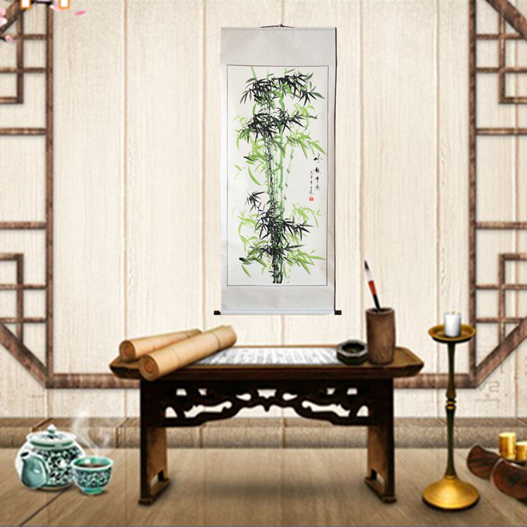 Chinese traditional painting bamboo classic famous works high imitation goods, Chinese cultural enthusiasts appreciate and learn chinese handmade traditional retro classic carved laozi tao te ching bilingual bamboo slip