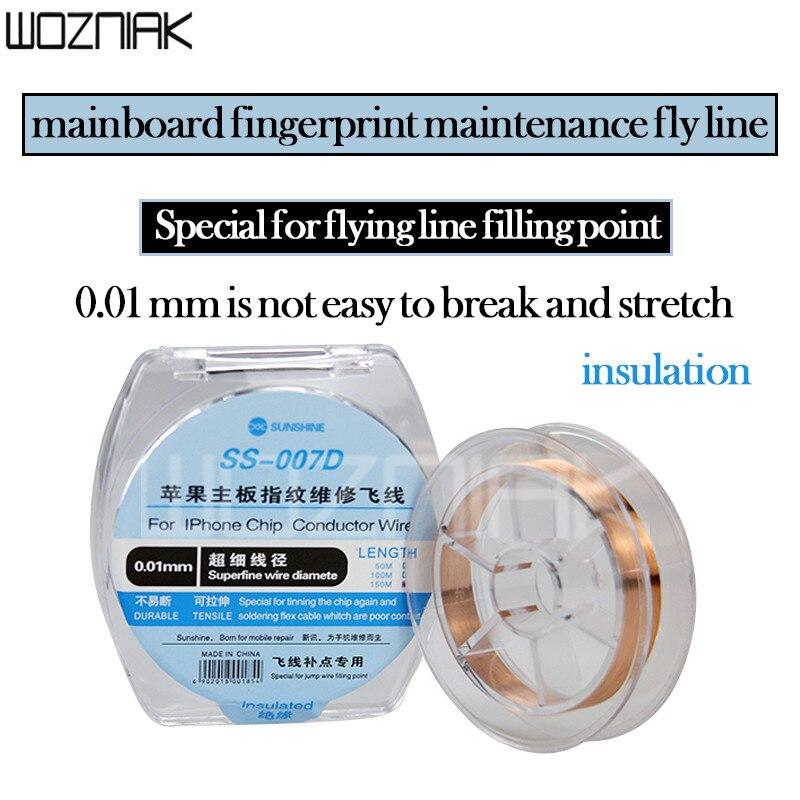 0,01 мм Jump провод медная линия Перемычка пайки провода для iphone Материнская плата PCB BGA чип сварочный ремонт
