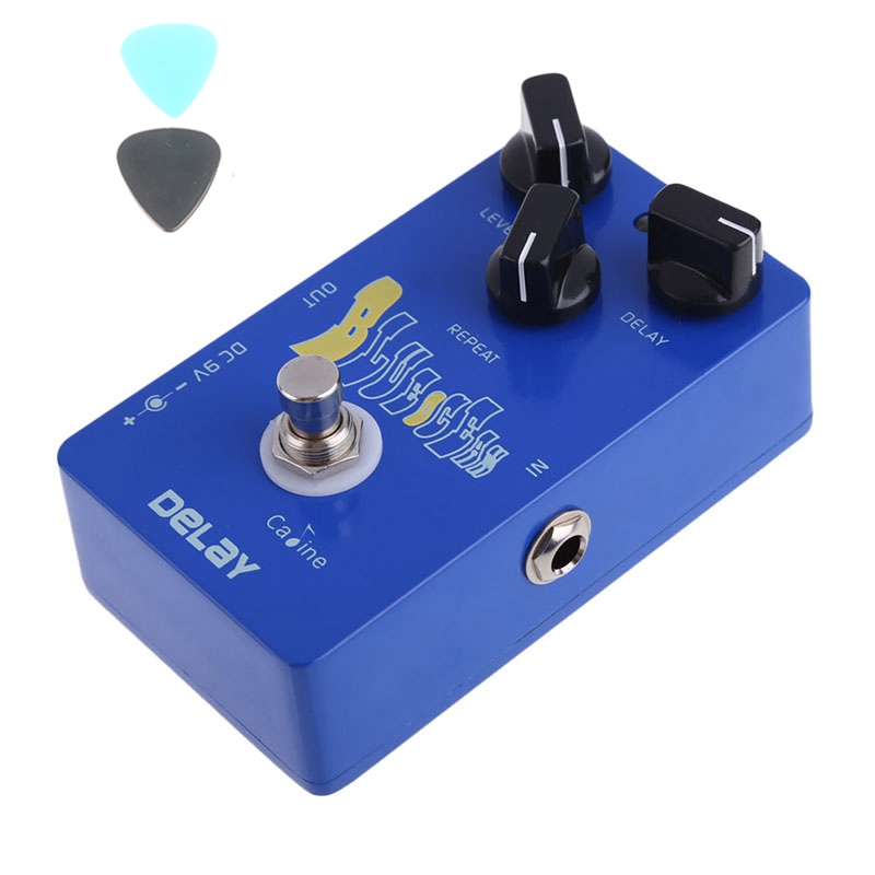 Caline CP-19  Blue Ocean Delay Guitar Effect Pedal True Bypass High quality Guitar Accessories aroma adl 1 true bypass delay electric guitar effect pedal high quality aluminum alloy guitar accessories delay range 50 400ms