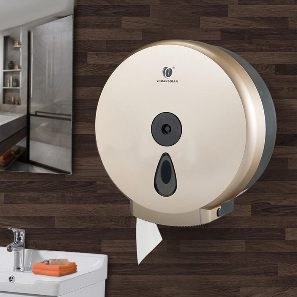 Multi-functional Wall Mounted Toilet Paper Tissue Box Holder Towel Rack Shelf Home Kitchen Bathroom Roll Towel Dispenser Paper
