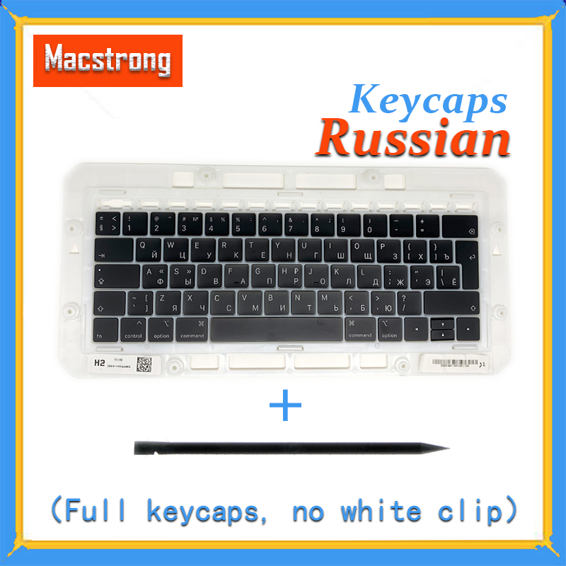 """Original A1706/A1707/A1708 Russian Keycaps For Macbook Pro/Air Retina 13"""" 15"""" A1932/A1990/A1989 RU Keys Replacement Keyboard-in Replacement Keyboards from Computer & Office on"""