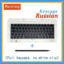 "Original A1706/A1707/A1708 Russian Keycaps For Macbook Pro/Air Retina 13"" 15"" A1932/A1990/A1989 RU Keys Replacement Keyboard"