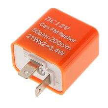 1 Cái 12V 2 Pin Có Thể Điều Chỉnh Tần Số LED Flasher Relay Nhan Blinker Chỉ Thị Cho Hầu Hết Xe Máy Xe Máy Phụ Kiện