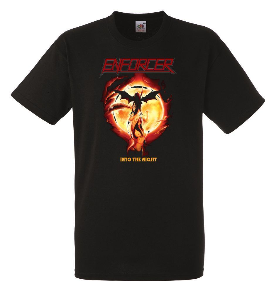Enforcer Into The Night Mens Unisex Black Rock T-shirt NEW Sizes S-XXXL ...