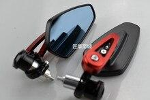 Universal 7/8 22mm handle bar motorcycle bar end mirror Motorcycle Mirror For honda yamaha Kawasaki z750 Suzuki Ducati BMW KTM поплавок salmo 10 бальзовый под светлячок 5 г