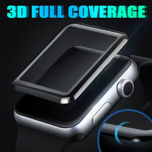 3D curved Fashion Surface 9H Tempered glass film For apple watch 42mm 38mm 44mm 40mm Screen Protector for Apple Series 1 2 3 4(China)