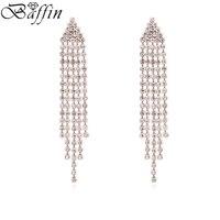 BAFFIN Luxury Tassel Hanging Earrings AAA Cubic Zirconia Long Pendientes Women Wedding Accessories