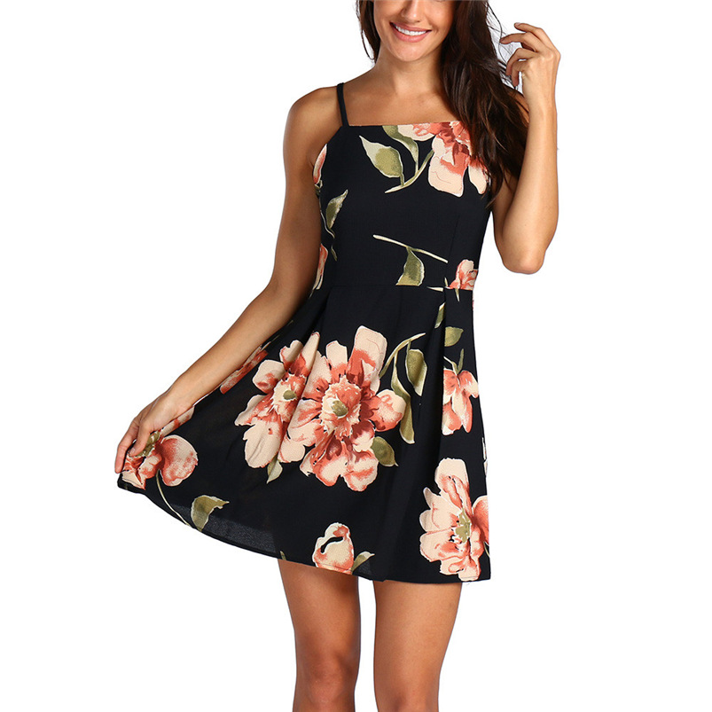2018 summer dress sexy black beach bandage dress bodycon holiday Backless  mini party dress sleeveless vestidos ... 461aa91bc80d