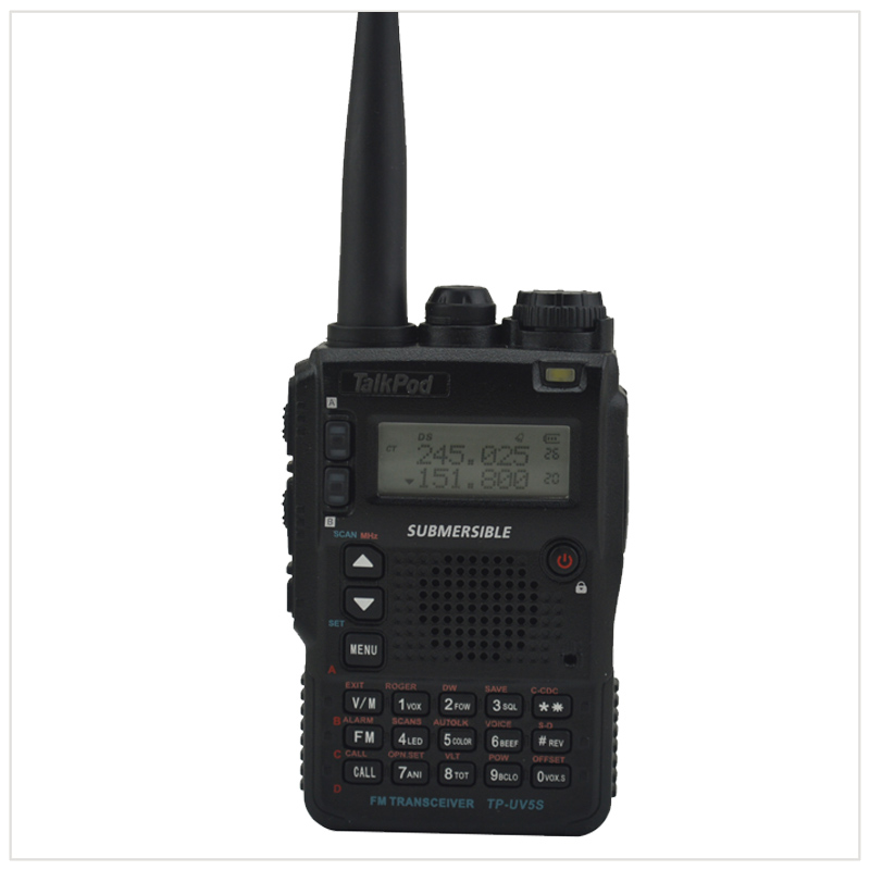 TalkPod TP-UV5S Tri-Band 136-174/240-260/400-520mhz 7W  2200mah Battery Two Way Radio Walkie Talkie Sister Yaesu VX-8DR