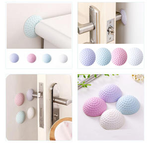 1 PCS Doorknob Lock Self Adhesive Circular Wall Protectors Door Handle Bumpers Buffer