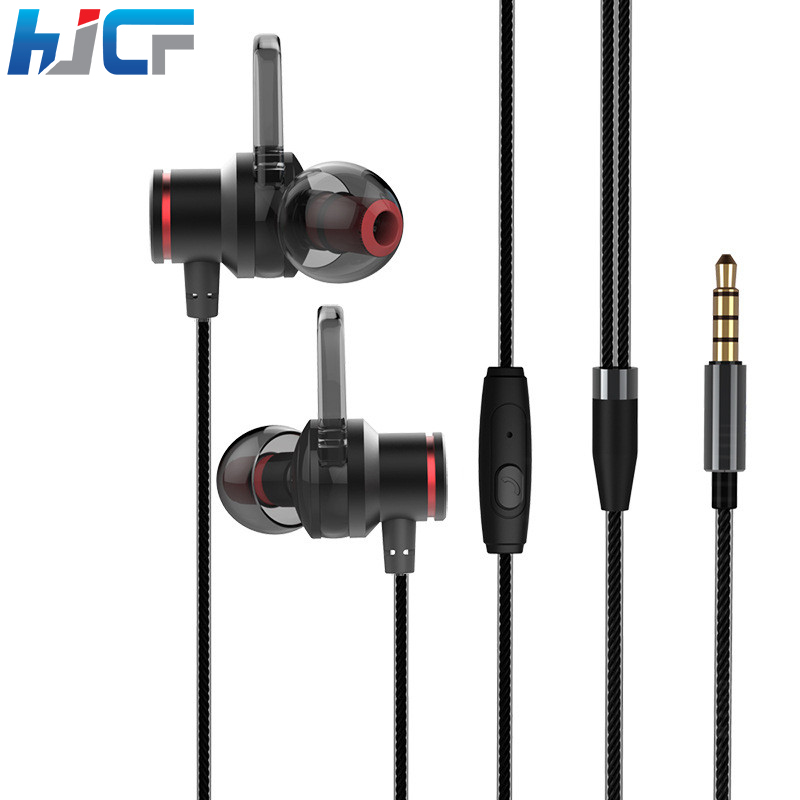 Quality Stereo Built-in Microphone Earphone Metal Earbuds Sport Running Universal For Mobile Phones Xiaomi Samsung A5 qkz c6 sport earphone running earphones waterproof mobile headset with microphone stereo mp3 earhook w1 for mp3 smart phones