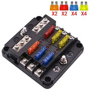 Image 5 - 6 way/12 Way Blade Fuse Block with ATC/ATO Fuse Box Holder LED Warning Indicator Damp Proof Cover for Car Boat Marine RV Truck