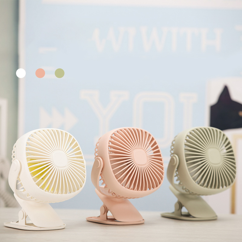 Color : White Air Cooler USB Rechargeable Mini Fan Air Cooler Clip Desk Fan Home Student Dormitory Bedside Portable Desktop Fan