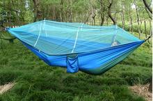 屋外ダブルカップルハンモック超軽量カラー防蚊ロールオーバーハンモックダブル蚊帳ハンモック送料無料