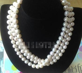 """Beautiful 52"""" 11-12 mm white freshwater pearl necklace"""