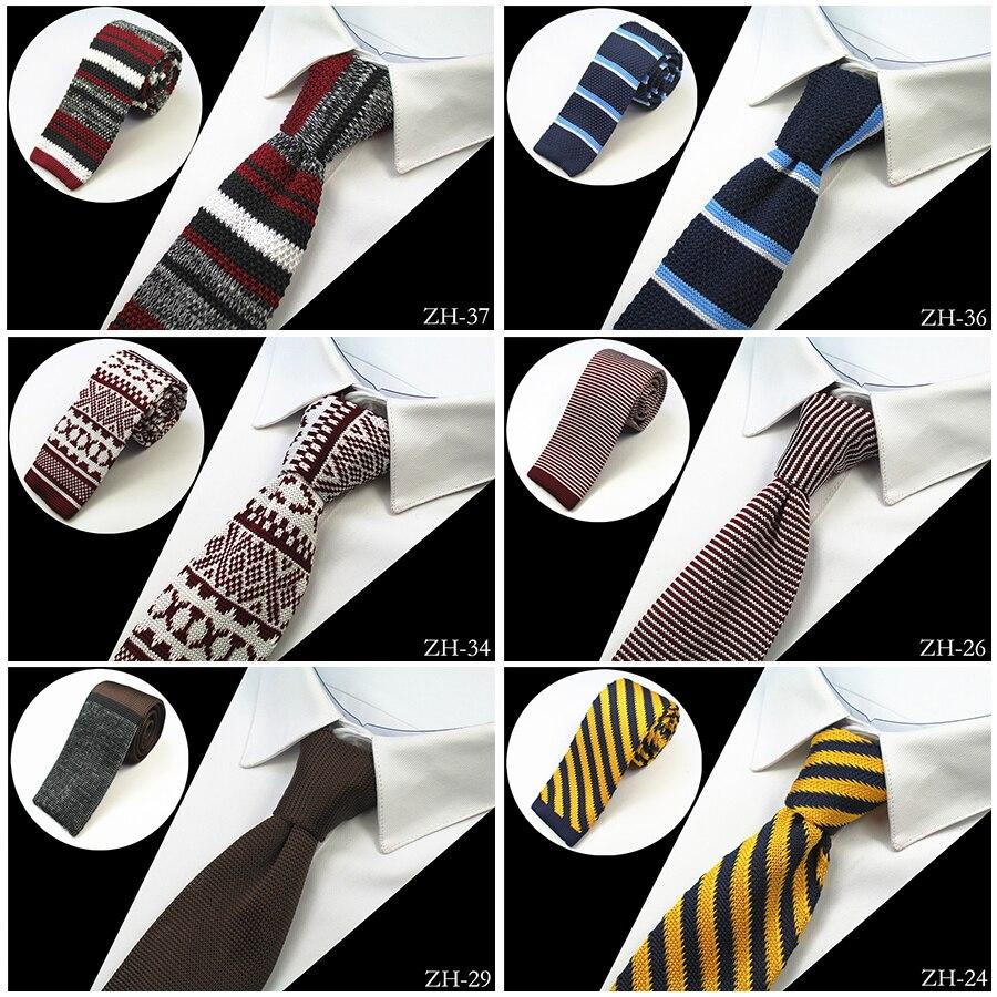 GUSLESON Brand New Fashion Mens Knitted Neck Ties Men Knit Tie Slim Designer Cravate Narrow Skinny Neckties For Men Neckwear