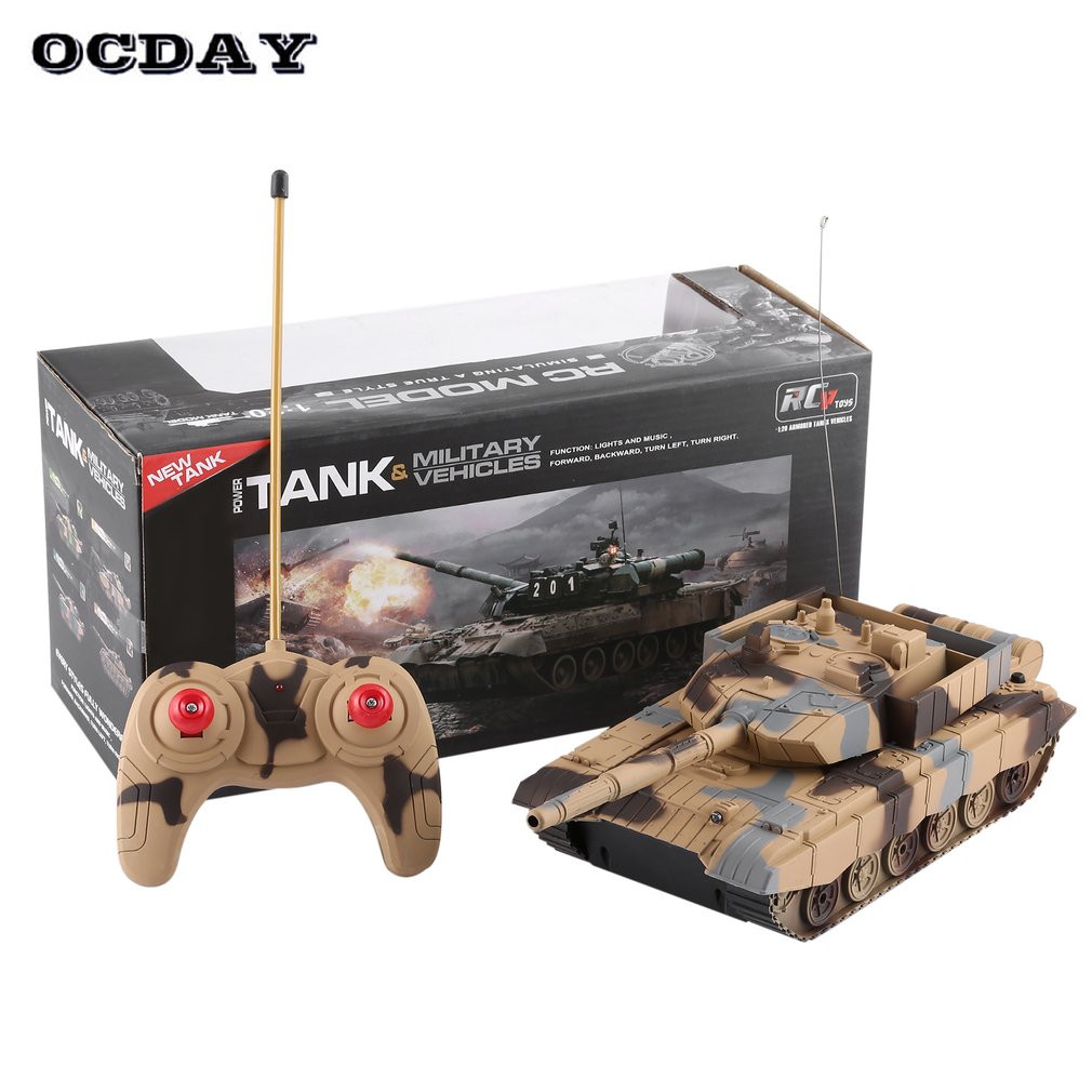 OCDAY 1:20 4CH RC Tank On The Radio Remote Control Military Vehicle Armored Battle Tanks Turret Rotation Light & Music RC Toys np gc b002 1 10 exo armored suit private military contractor