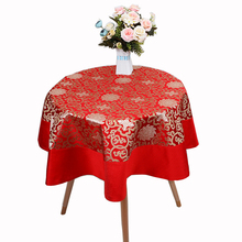 Rectangle Blue Damask Tablecloth Embroiered Table Cover Dining Decorative Table Cloths High End Tablecloths size L 2 x W 1.5 m 1
