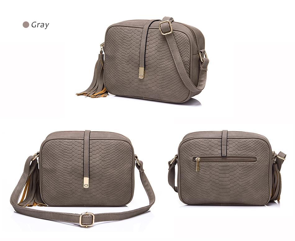 REALER brand small shoulder bag for women messenger bags ladies PU leather handbag purse tassels female crossbody bag women 2019 16