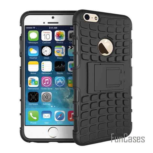 515eae7302 For iPhone 6s Case Hard Cover Heavy Duty Armor Shockproof Hybrid Rugged  Rubber Silicone Rubber Phone Case for Apple iPhone 6 (<