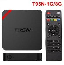 S905 T95N Mini MX cuadro de tv Android Amlogic Android 5.1 1G/8G WiFi 4 K Kodi 16.0 Cargado complementos 1080i/p set top box CAJA de la TV Inteligente