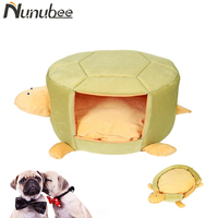 Nunubee Tortoise Shape Deformable Dogs Beds Warm Soft Chien Dog House Pet Sleeping Bag Hondenmand Kennel mascotas Beds