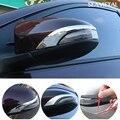 2 Pçs/lote ABS Chrome Para Toyota Corolla 2013 + 2014 2015 2016 Porta Lateral Do Carro Espelho Retrovisor Exterior Guarnição Auto acessórios 3D Capa